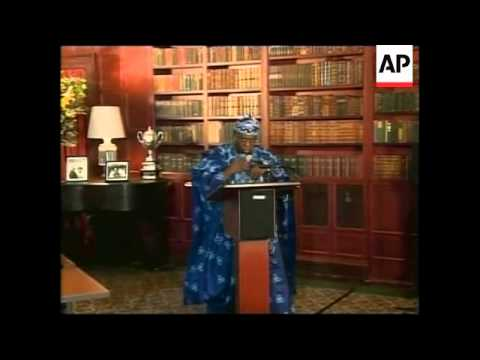 Nigerian President Obasanjo and Cameroon President Paul Biya meet Annan