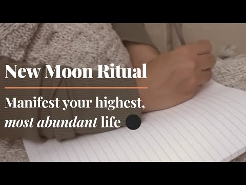 New Moon Ritual – Manifest Your Best Life