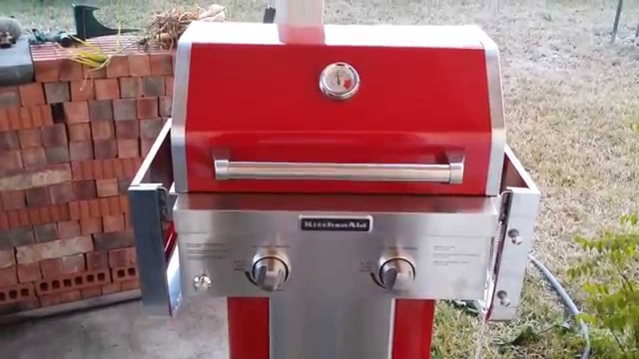 Wonderful Kitchenaid 5 Burner Gas Grill Propane In Action On Decorating Ideas