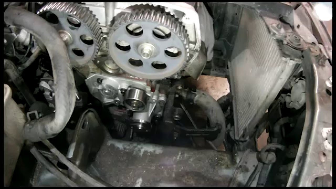 kia spectra sephia timing belt water pump replace youtube rh youtube com