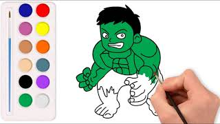 Drawing and Coloring Hulk From The Avenger