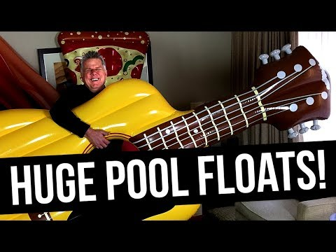 Blind Man Tries To Identify Huge Pool Floats!