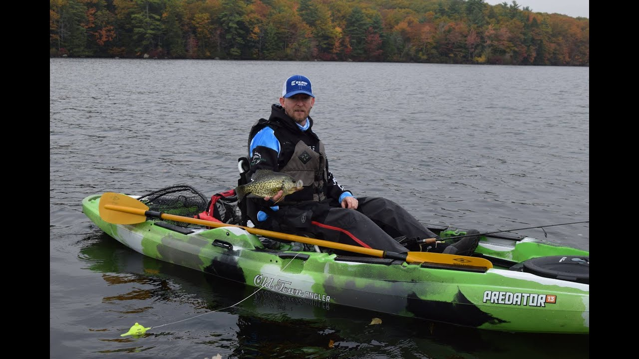 Episode 1 new hampshire fall kayak crappie fishing youtube for Field and stream fishing kayak