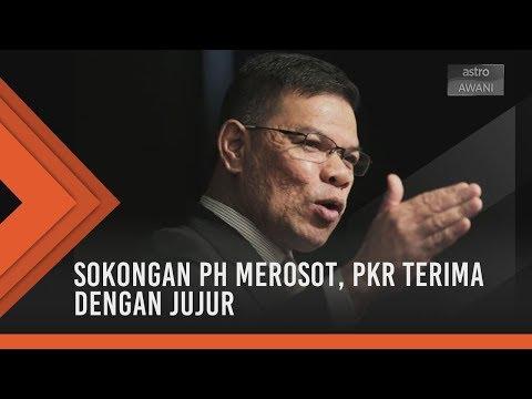 Sokongan PH merosot, PKR terima dengan jujur
