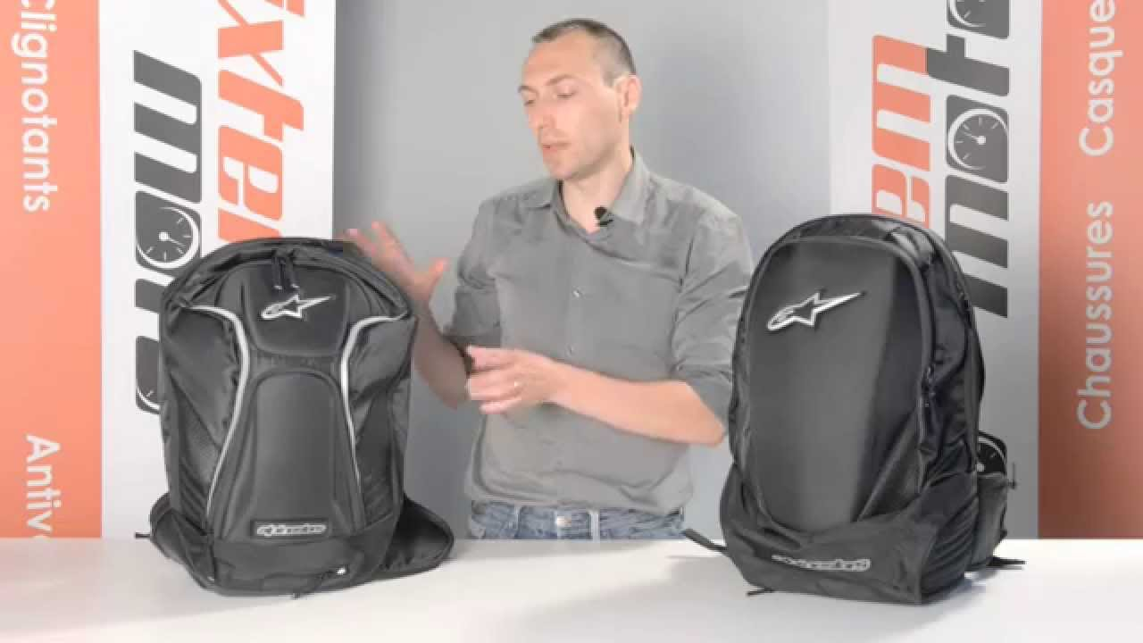 sacs dos moto alpinestars tech aero et charger r par ixtem moto youtube