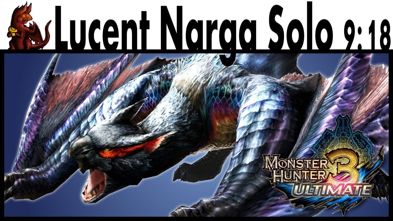 mh3u lucent nargacuga solo 918 db youtube