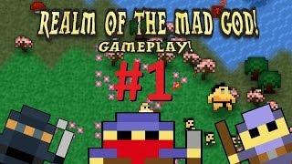 Realm of the Mad God - Gameplay #1 (Ft. Jocelin & Spyair)
