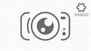 illustrator tutorial - photography camera studio logo design - flat design tutorial for beginners