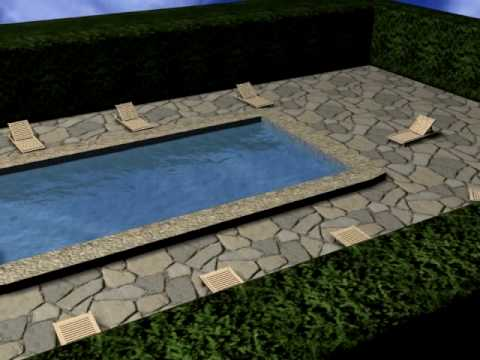 Piscina En 3d Max Youtube