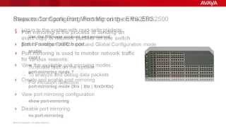 How to Configure Port Mirroring on the Avaya ERS2500
