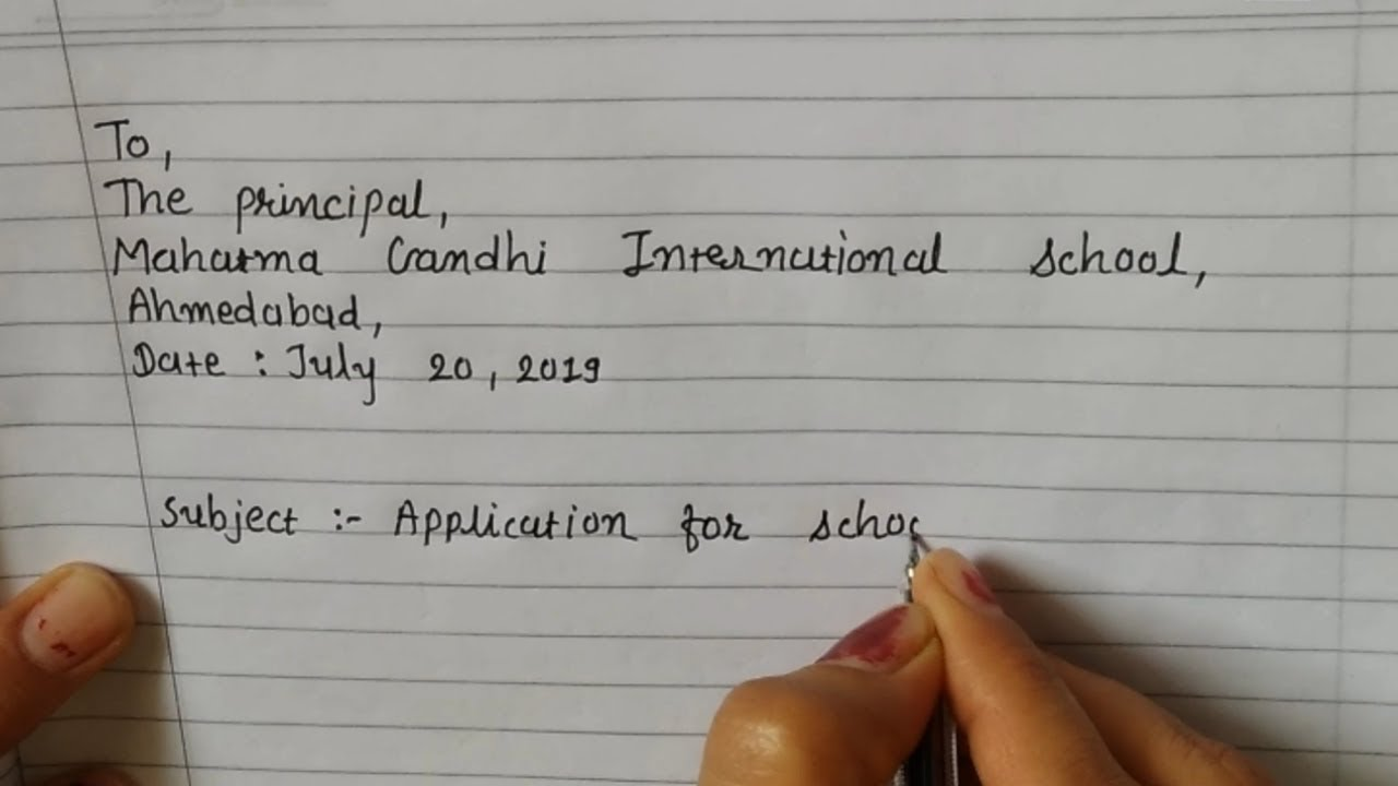 How to Write an Application for Transfer Certificate (TC) in