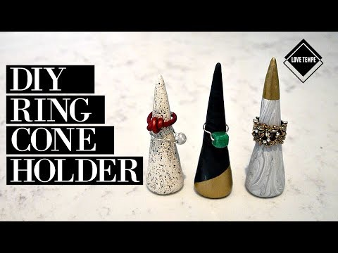 DIY: Ring Cone Holder | Speckled Pottery