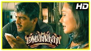 Ajith Mimics Andrea | Mankatha Tamil Movie | Ajith Villainous Threatening Scene | Arjun | Trisha