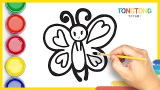 How to Draw and Color a butterfly easy step by step simple Surprise egg