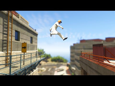 HARDCORE PARKOUR STUNTS! (GTA 5 Funny Moments)