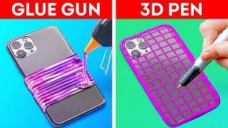 GLUE GUN VS. 3D PEN || Amazing Crafts
