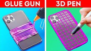 GLUE GUN VS. 3D PEN || Amazing Crafts