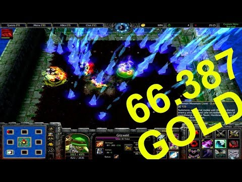 Warcraft 3 | Custom Hero Survival v2.6c | 66.387 GOLD | CRAZY BET | WINNER