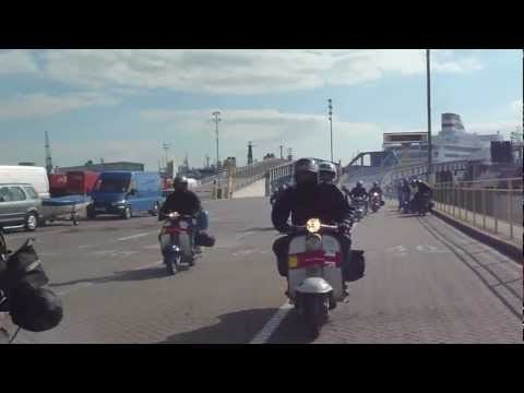 Ferry Disembarkation Portsmouth After Euro Lambretta 2010