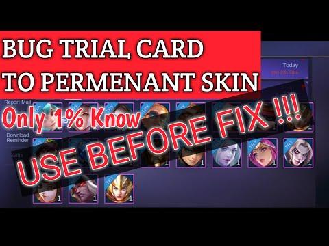 *Our Secret* BUG TRIAL CARD TO PERMENANT SKIN - MOBILE LEGENDS