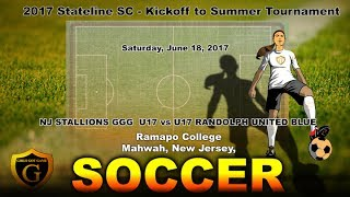 Girls Soccer - GGG SC U17 vs. RANDOLPH UNITED BLUE | June 18 2017
