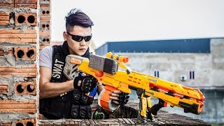 LTT Nerf War : Captain SEAL X Warriors Nerf Guns Fight Criminal Group Dr Lee Face Flip