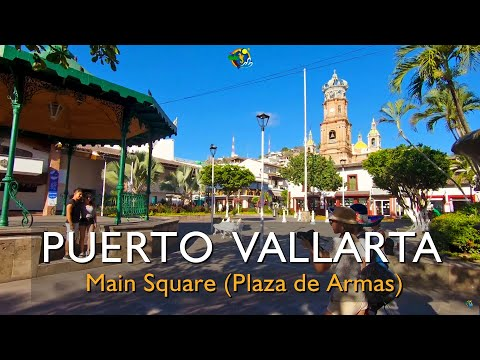 Short Tour of Puerto Vallarta's Main Square and Guadalupe Parish