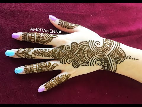 LATEST RAMADAN 2018 HENNA MEHNDI DESIGN | NEW BEAUTIFUL MEHENDI FOR RAMZAN 2018