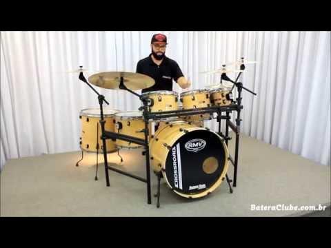 Bateria RMV Cross Road Natural sound check drum set