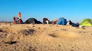 видео отдых с палатками на арбатской стрелке 2015