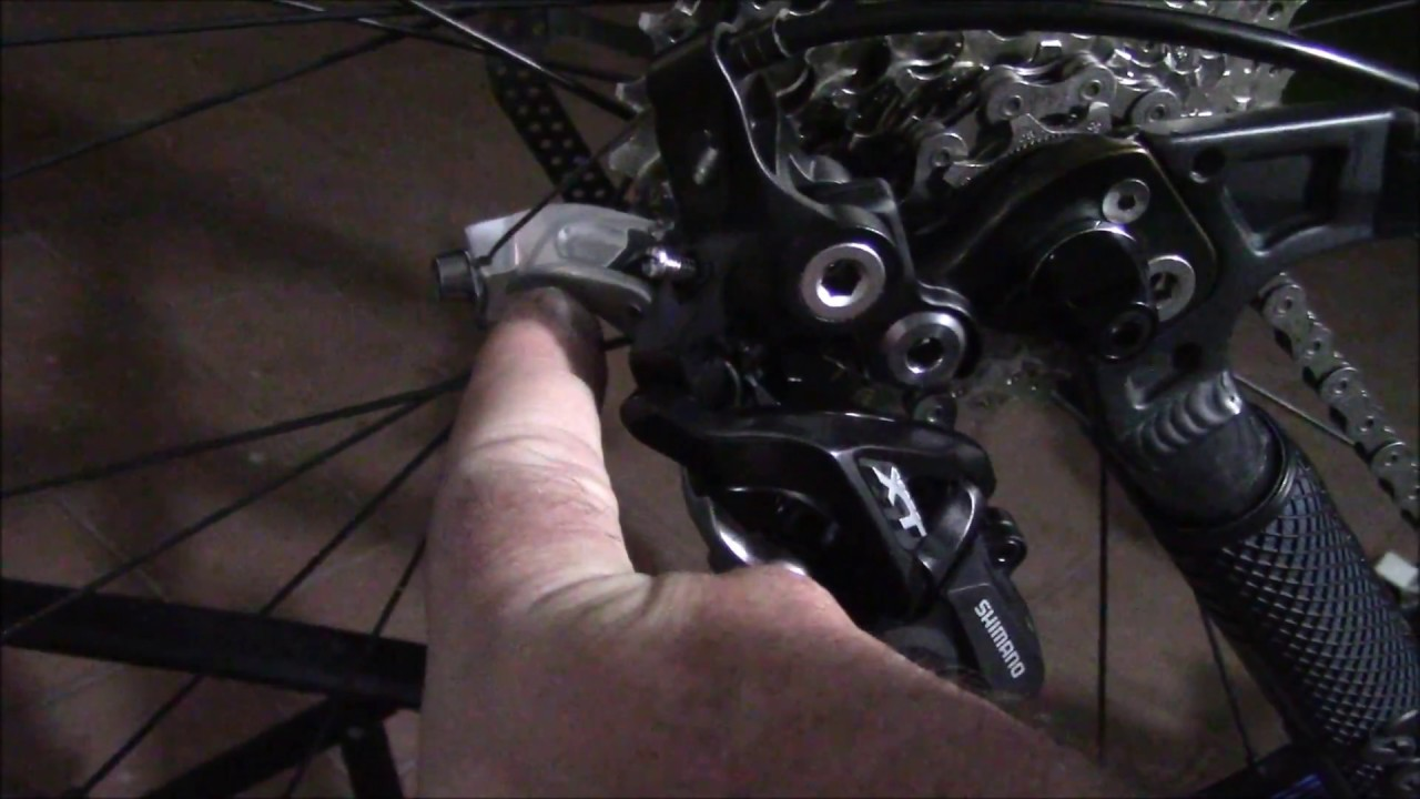 Shimano XT rear derailleur hack ( using a 10 speed rear derailleur with 9  speed shifters and casset)