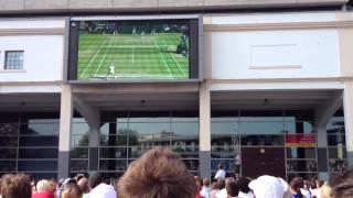 Murray wins Wimbledon 2013! Millennium Square, Bristol reaction