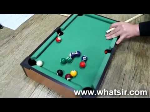 Pool table - snooker portable table top game kids billiards set - YouTube & Pool table - snooker portable table top game kids billiards set ...