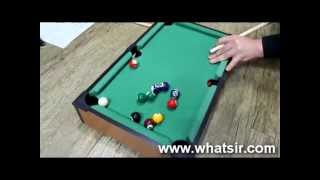 Pool Table - Snooker Portable Table Top Game Kids Billiards Set