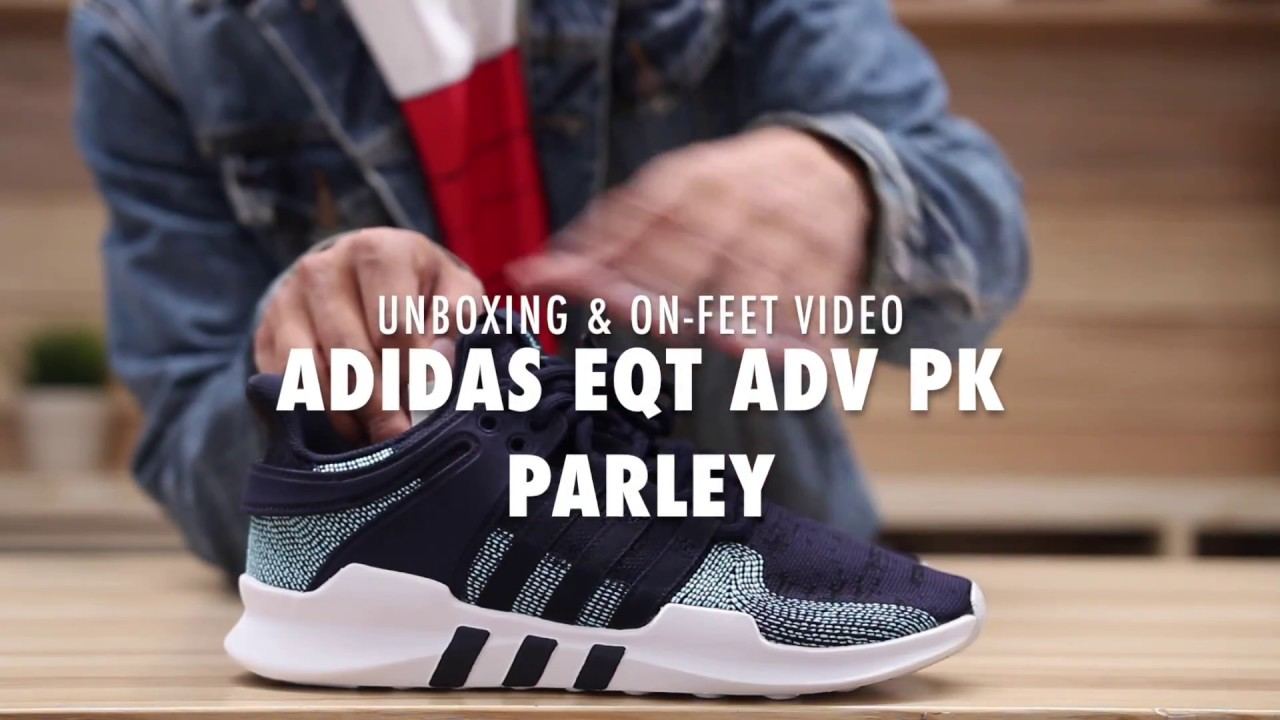 3060769b9af Adidas EQT ADV PK x Parley Navy Blue Unboxing & On feet Video at Exclucity