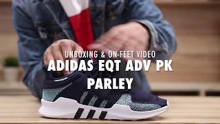 Adidas EQT ADV PK x Parley Navy Blue Unboxing & On feet Video at Exclucity