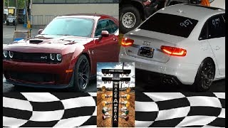 Audi S4 vs Dodge Charger Demon Drag Racing