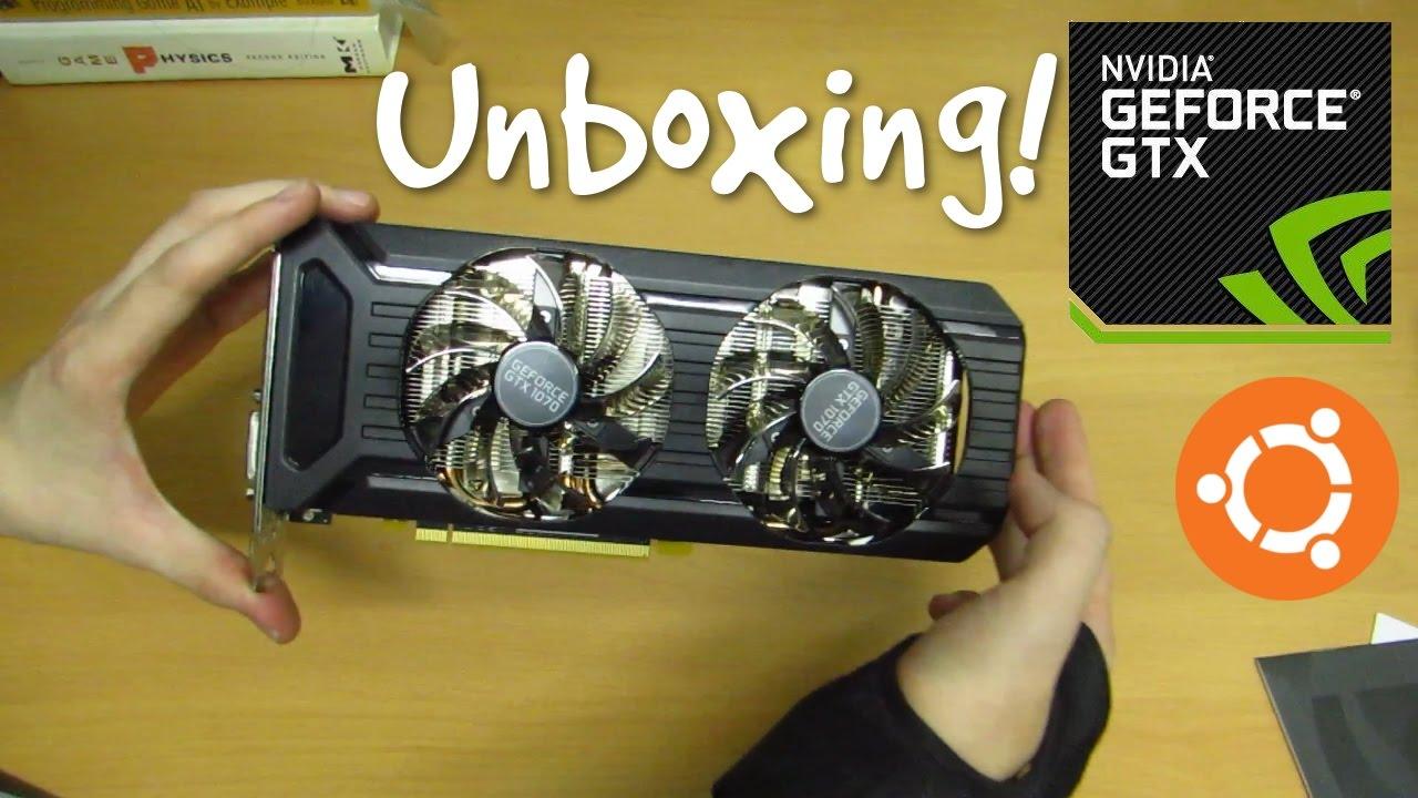 Unboxing the Palit GTX 1070 8GB Dual Fan