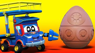 Truck Videos For Kids -  Easter Hunt For The Missing Easter Eggs  - Super Truck In Car City