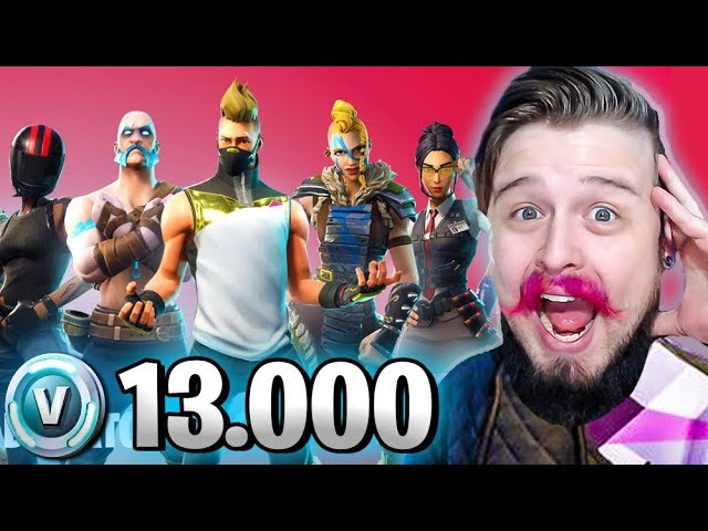 GASTEI 13.000 V BUCKS COMPRANDO TUDO DA TEMPORADA 5 (Fortnite Battle Royale)