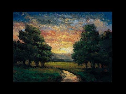 Morning Reverie 5x7 Redo Tonalist Landscape Oil Painting Demonstration
