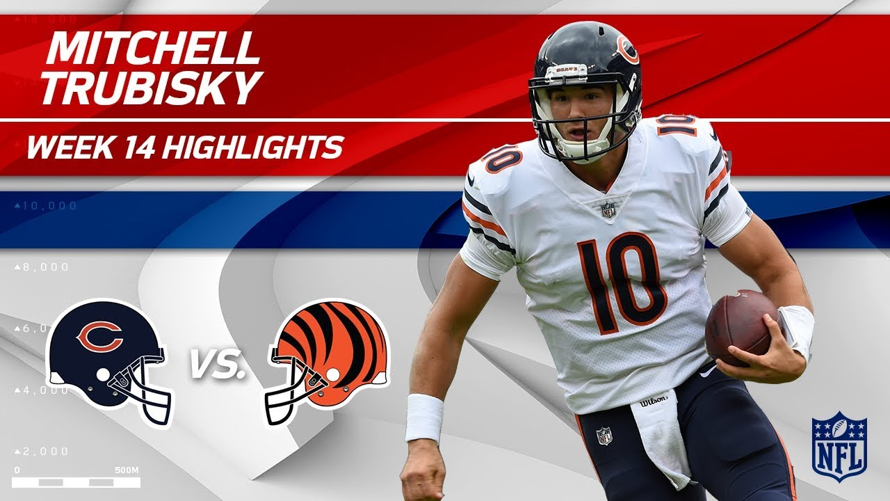 online retailer 72374 a57b3 Mitchell Trubisky Leads His Team to a Big Win vs. Cincy! | Bears vs.  Bengals | Wk 14 Player HLs