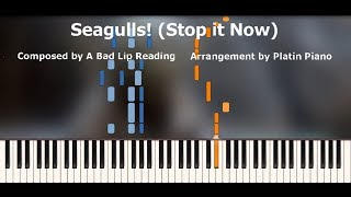 A Bad Lip Reading | Seagulls! (Stop it now) | Piano Tutorial