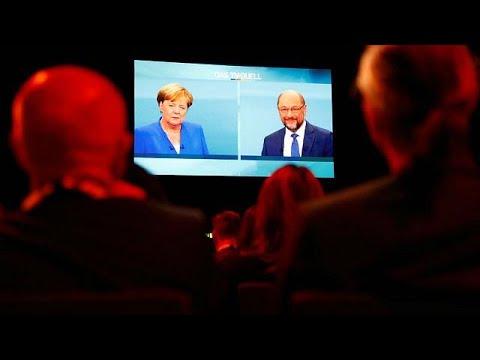 Merkel and Schulz go head-to-head on TV