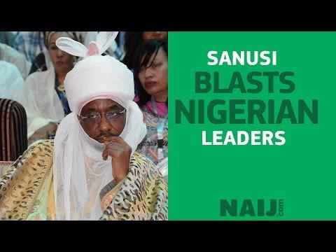 Emir Sanusi blasts Nigerian leadership