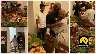 Wow...Fella Makafui surprise Medikal big time on Valentines Day with huge buffet at his house