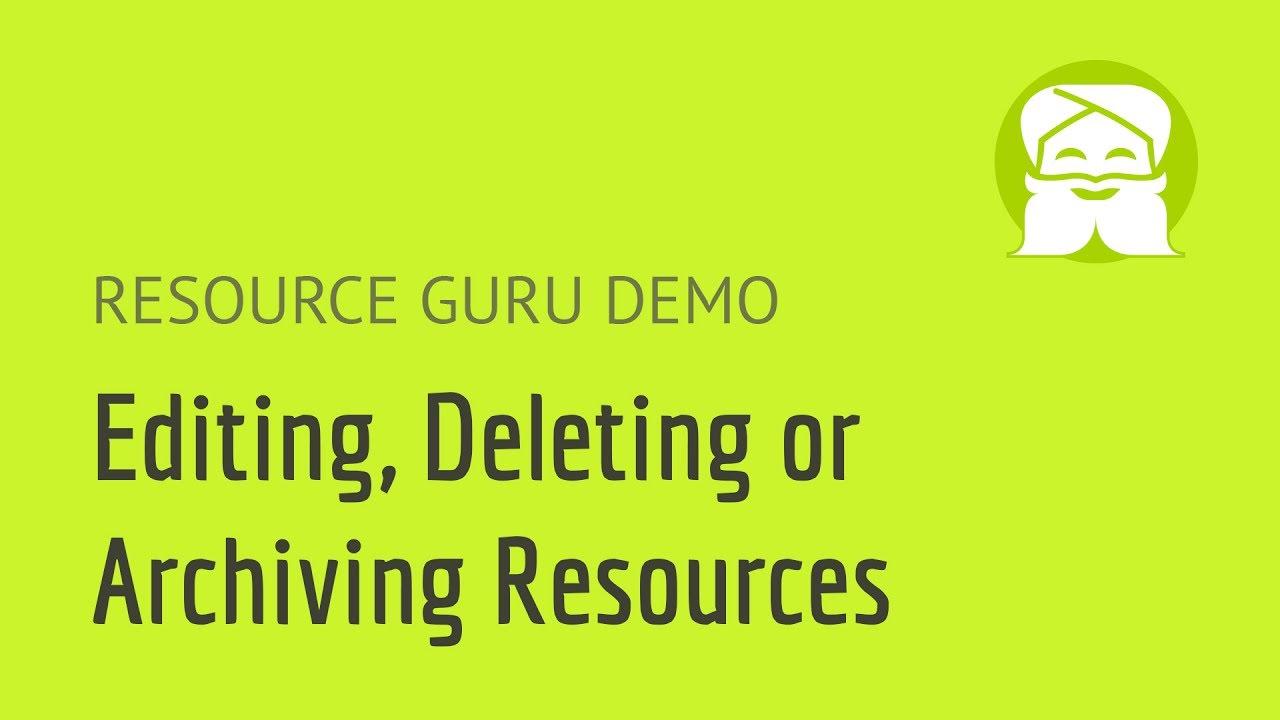 Resource Guru | Editing resources