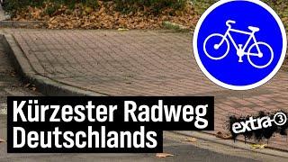 Realer Irrsinn: Der wohl kürzeste Radweg Deutschlands in Cloppenburg