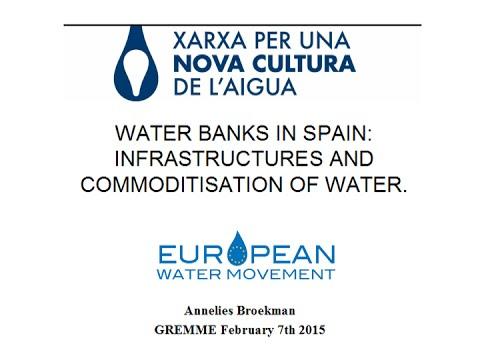 Water banks in Spain