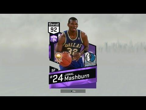 NBA2k17 MyTeam - Amethyst Jamal Mashburn Review